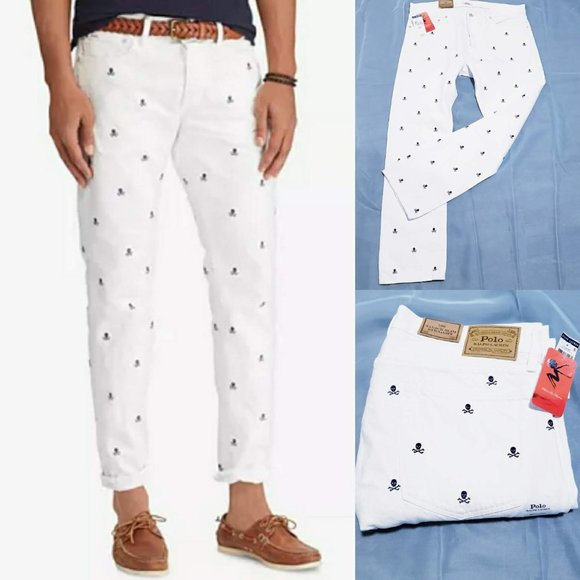 Polo by Ralph Lauren Other - 🆕Polo Varick Slim Straight Skull Print Jeans 🦅